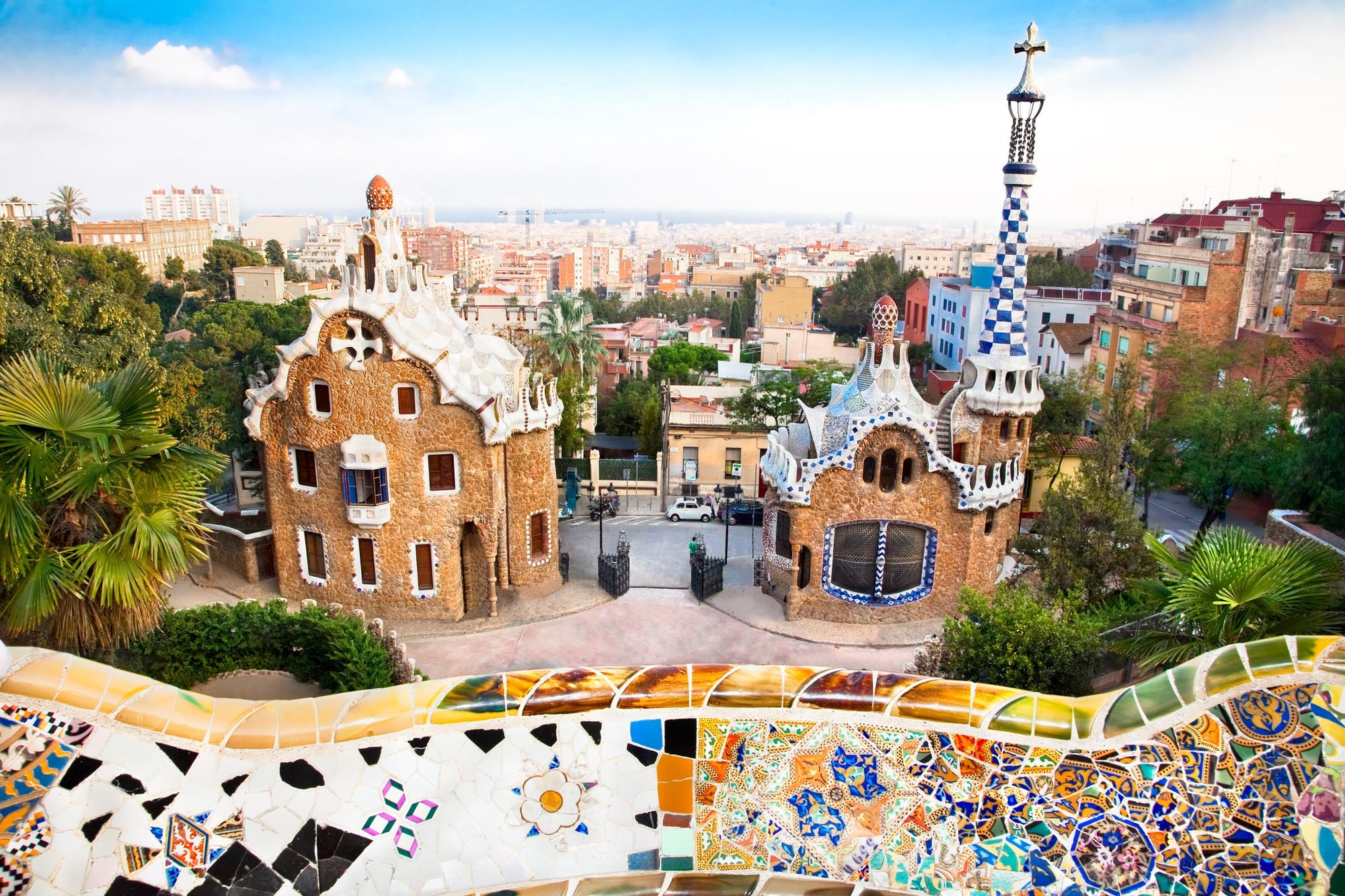 Vistas del parque Güell en Barcelona